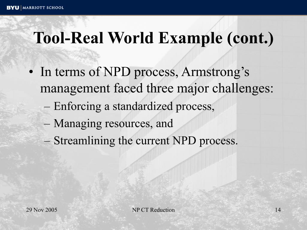 Tool-Real World Example (cont.)