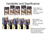 variability and significance