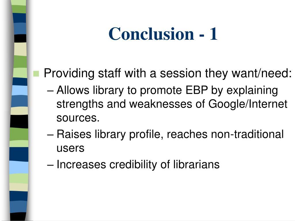 Conclusion - 1