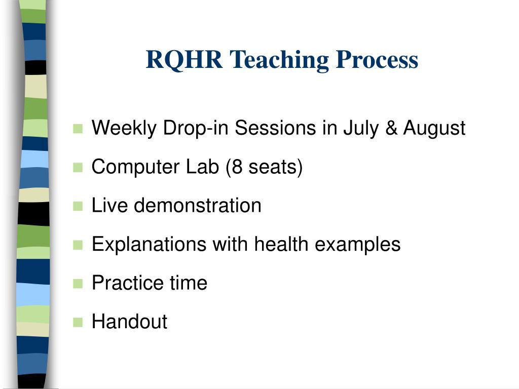 RQHR Teaching Process