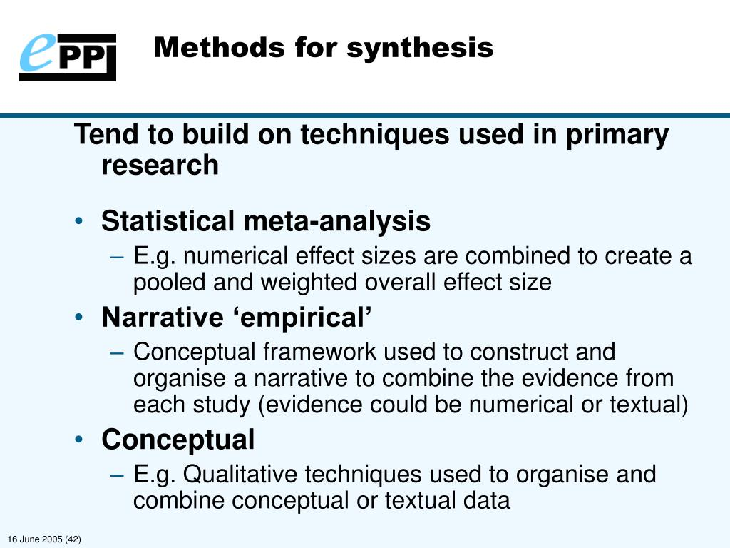 Methods for synthesis