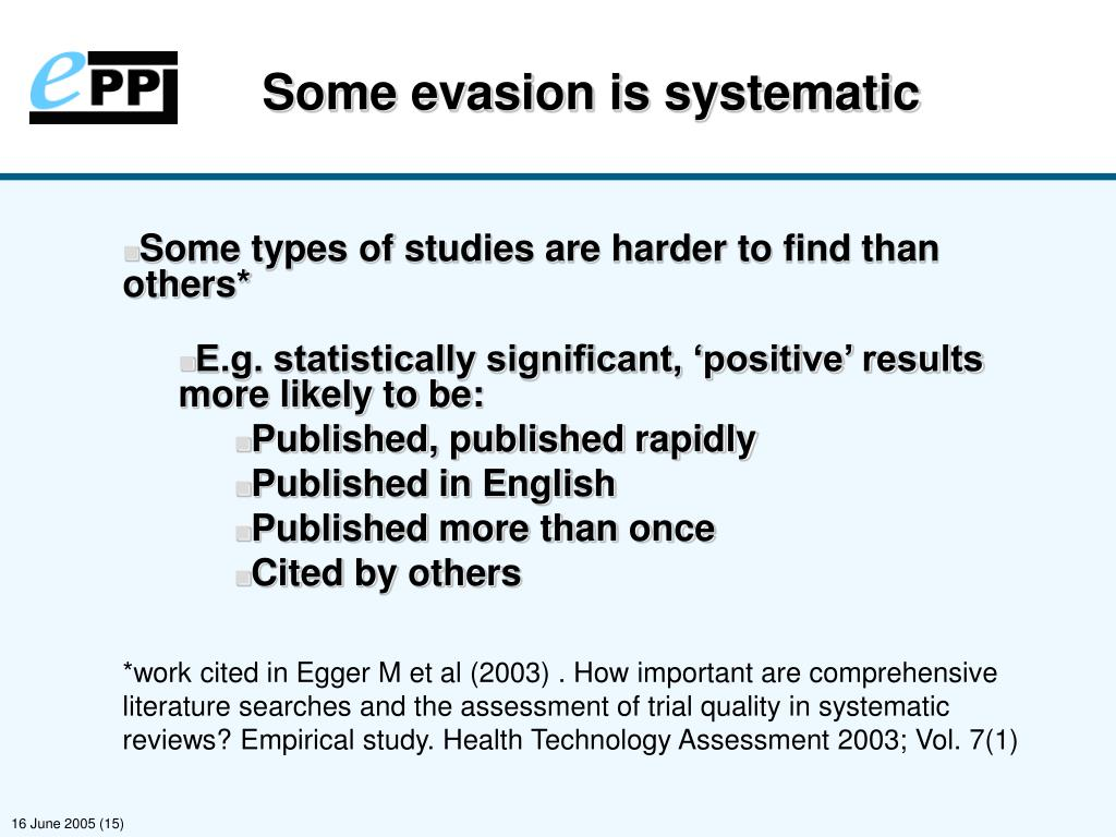 Some evasion is systematic