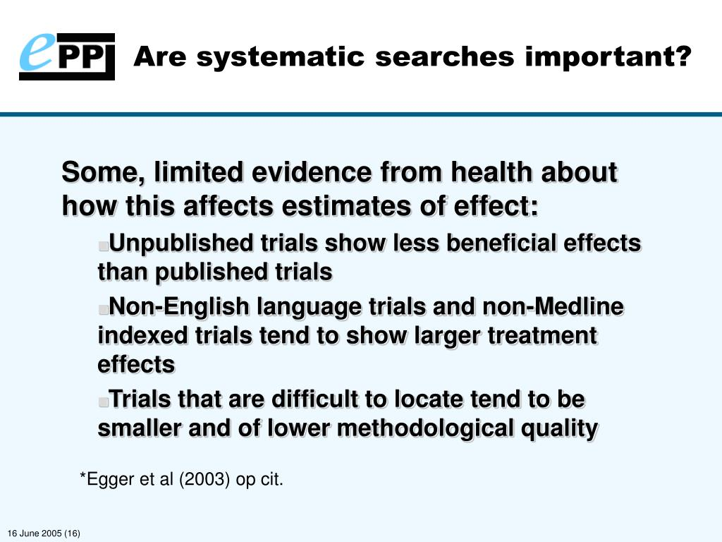 Are systematic searches important?