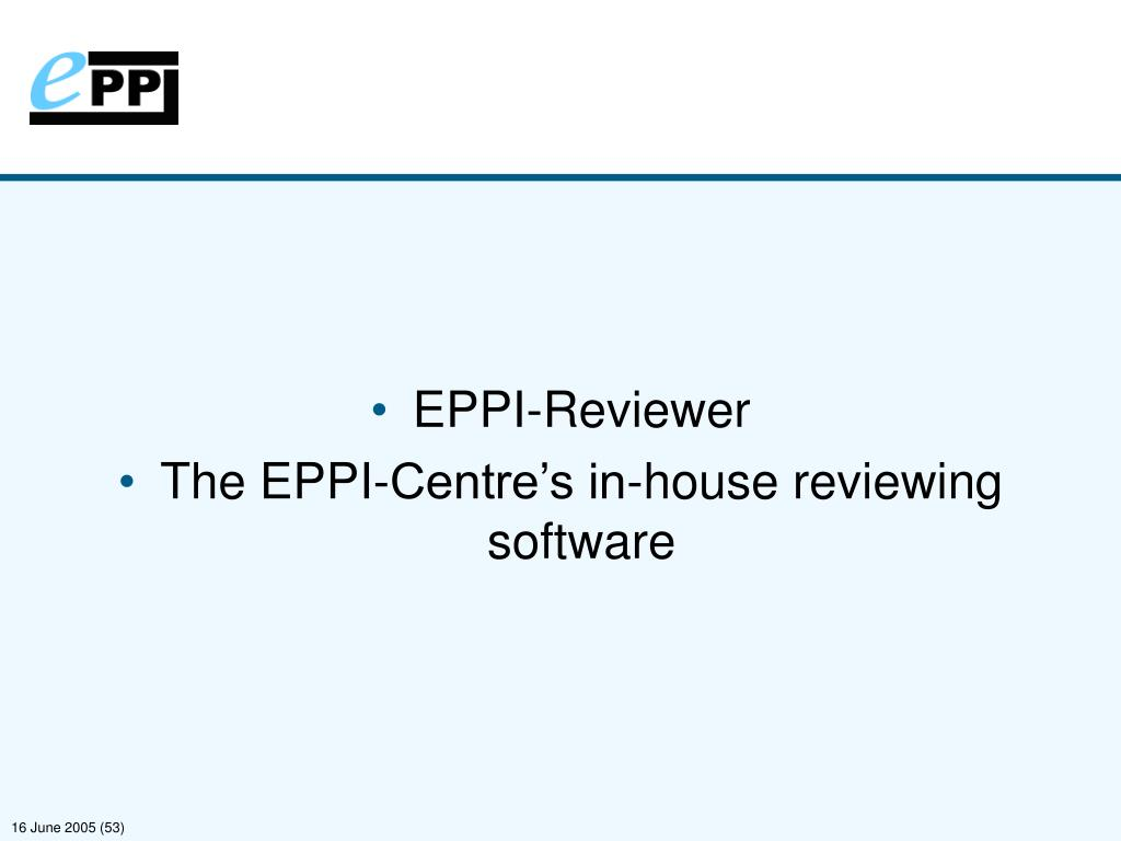 EPPI-Reviewer