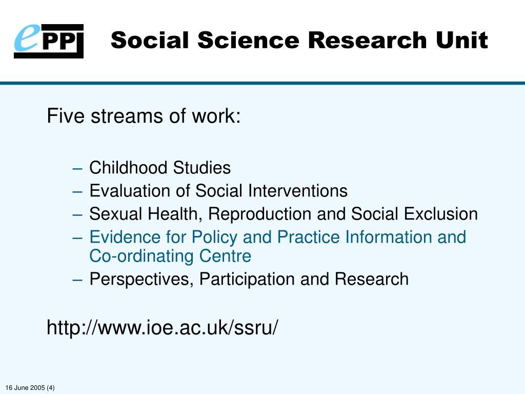 Social Science Research Unit