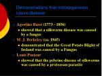 demonstrations that micoorganisms cause disease
