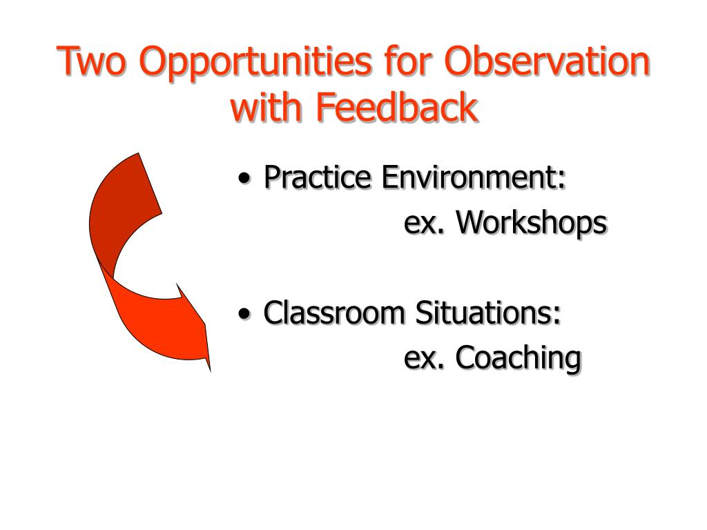 Two Opportunities for Observation with Feedback