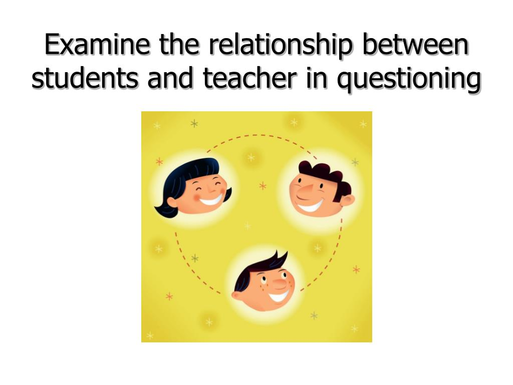 Examine the relationship between students and teacher in questioning