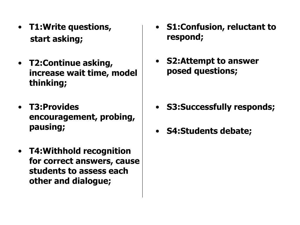 T1:Write questions,