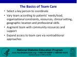 the basics of team care