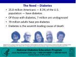 the need diabetes