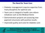 the need for team care