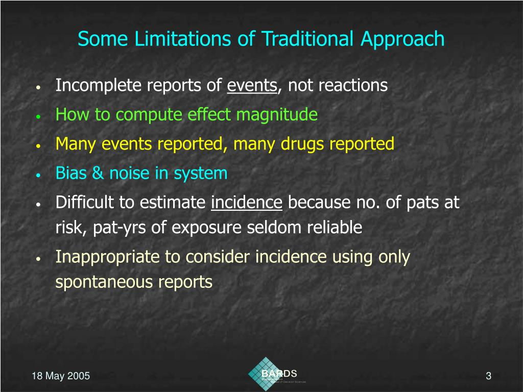 Some Limitations of Traditional Approach