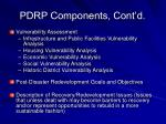 pdrp components cont d
