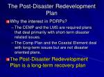 the post disaster redevelopment plan