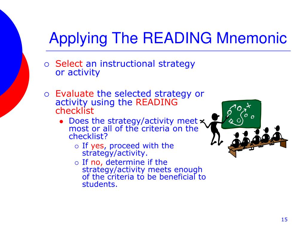 Applying The READING Mnemonic