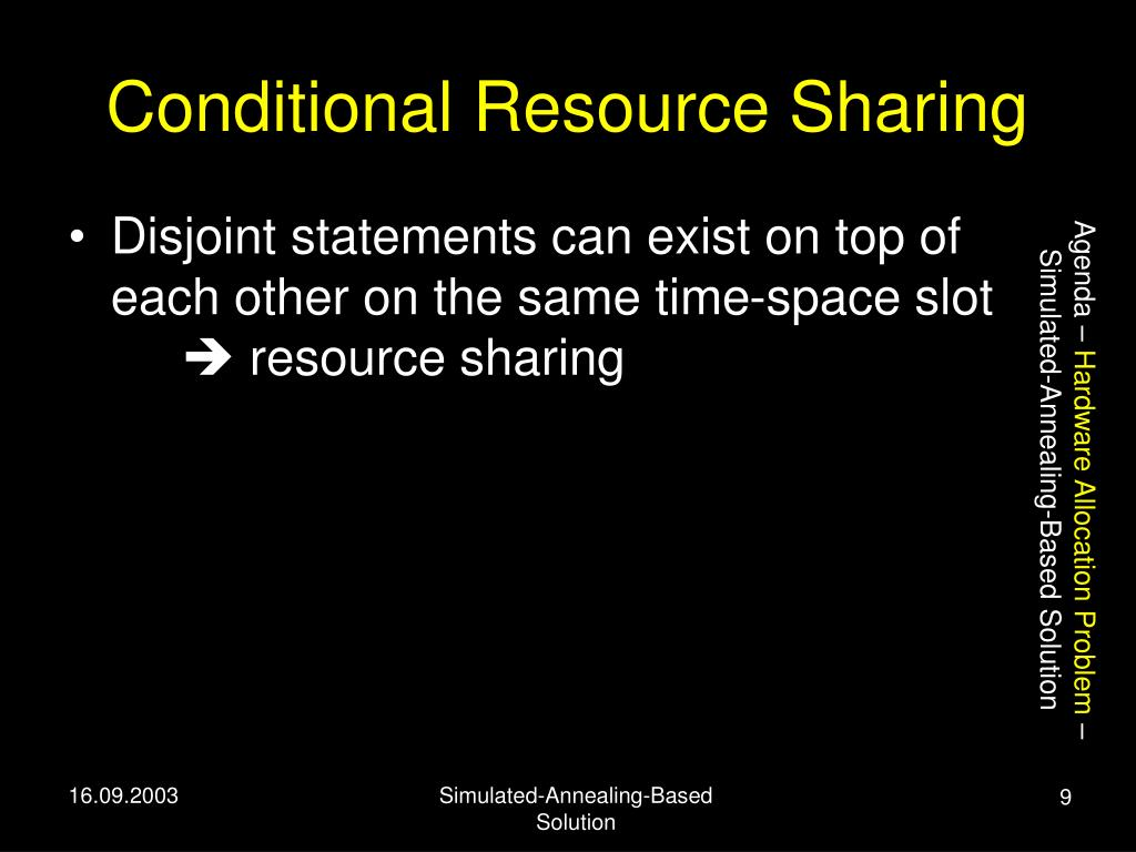 Conditional Resource Sharing