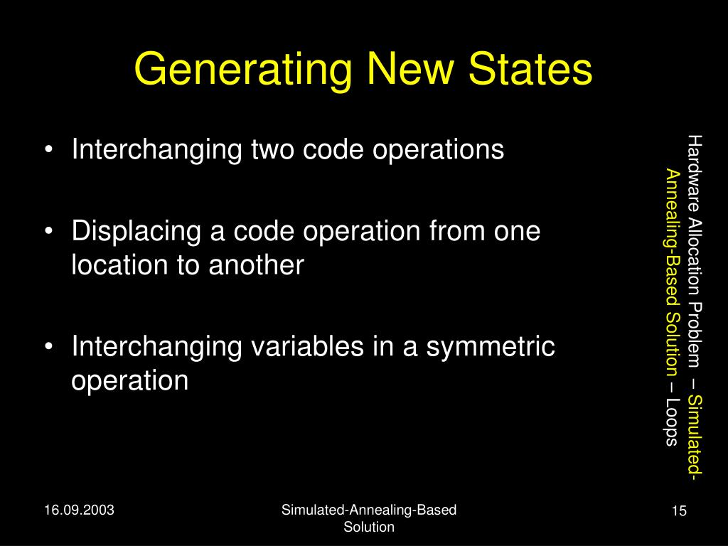 Generating New States