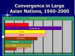 convergence in large asian nations 1960 2000