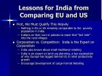 lessons for india from comparing eu and us