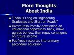 more thoughts about india