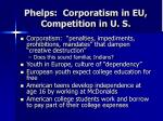 phelps corporatism in eu competition in u s
