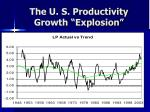 the u s productivity growth explosion