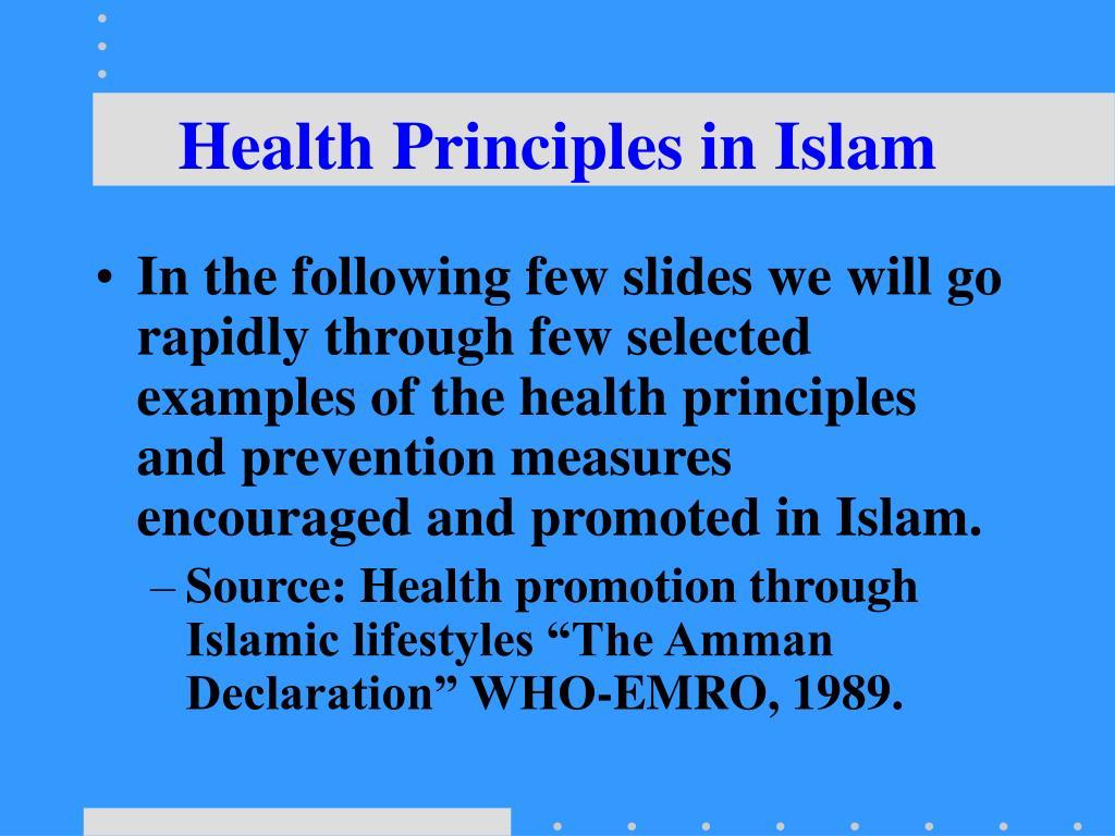 Health Principles in Islam