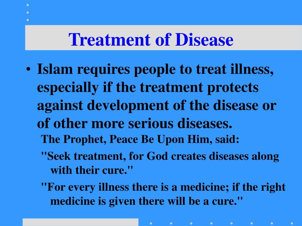 Treatment of Disease