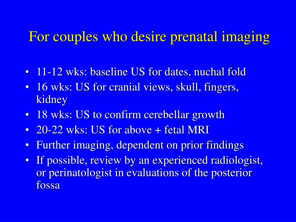 For couples who desire prenatal imaging