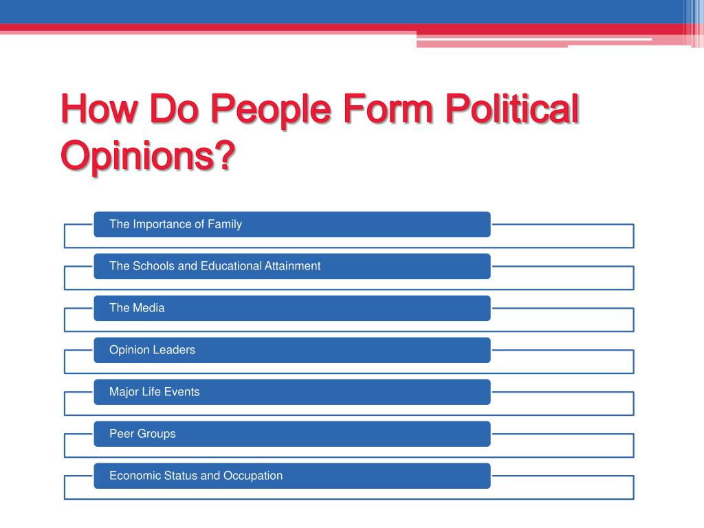 How Do People Form Political Opinions?