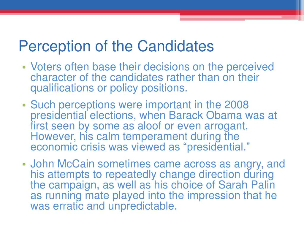 Perception of the Candidates