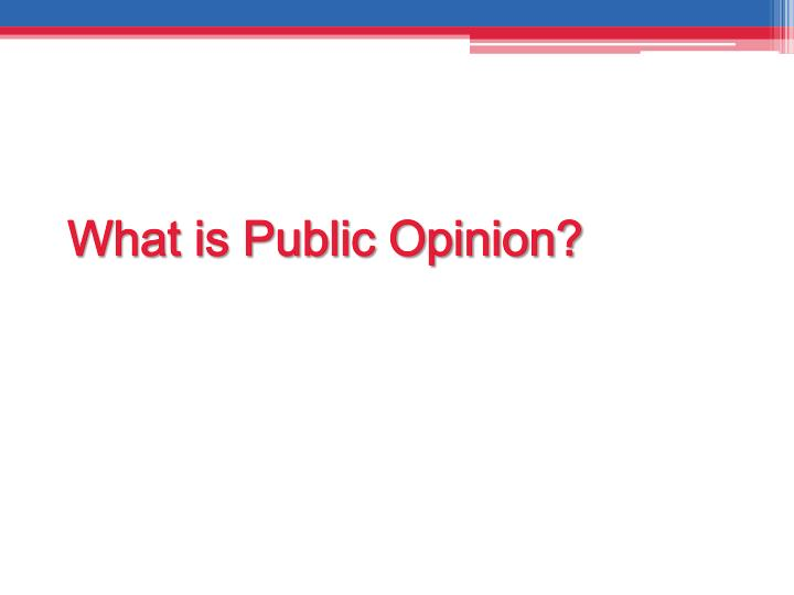 What is public opinion