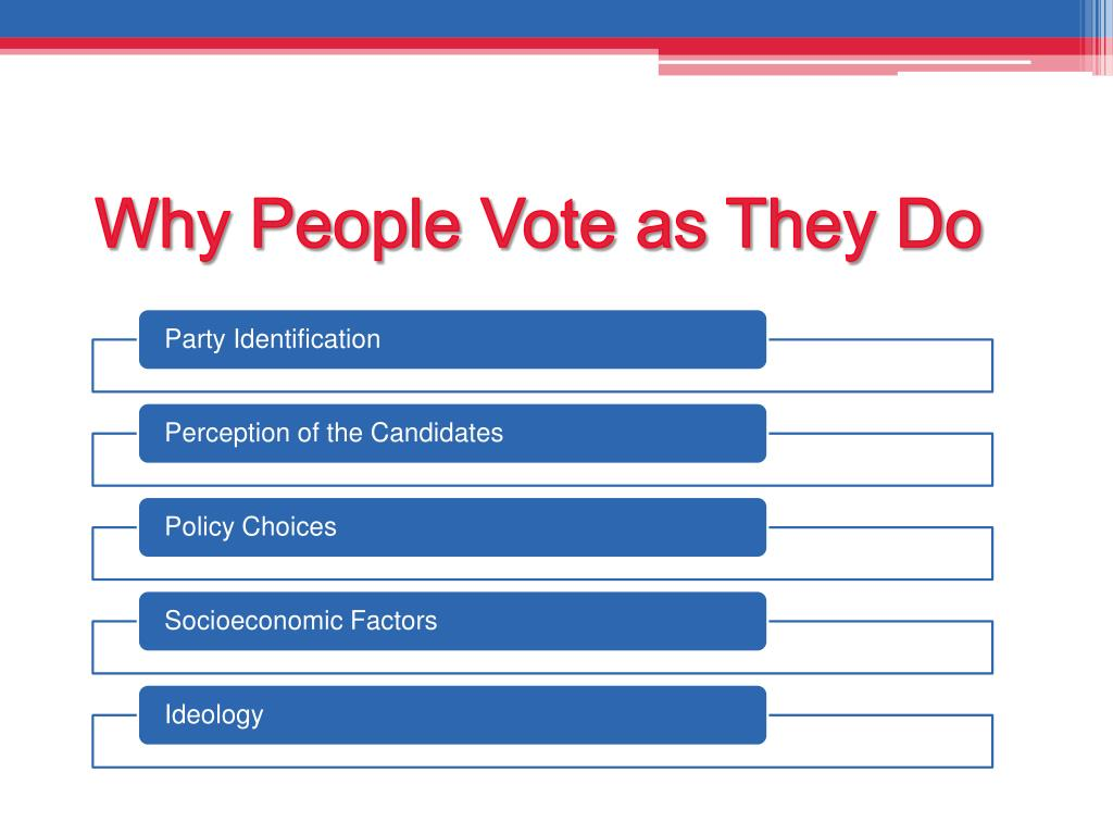 Why People Vote as They Do