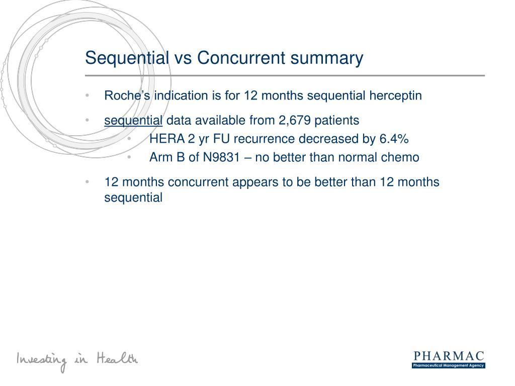 Sequential vs Concurrent summary