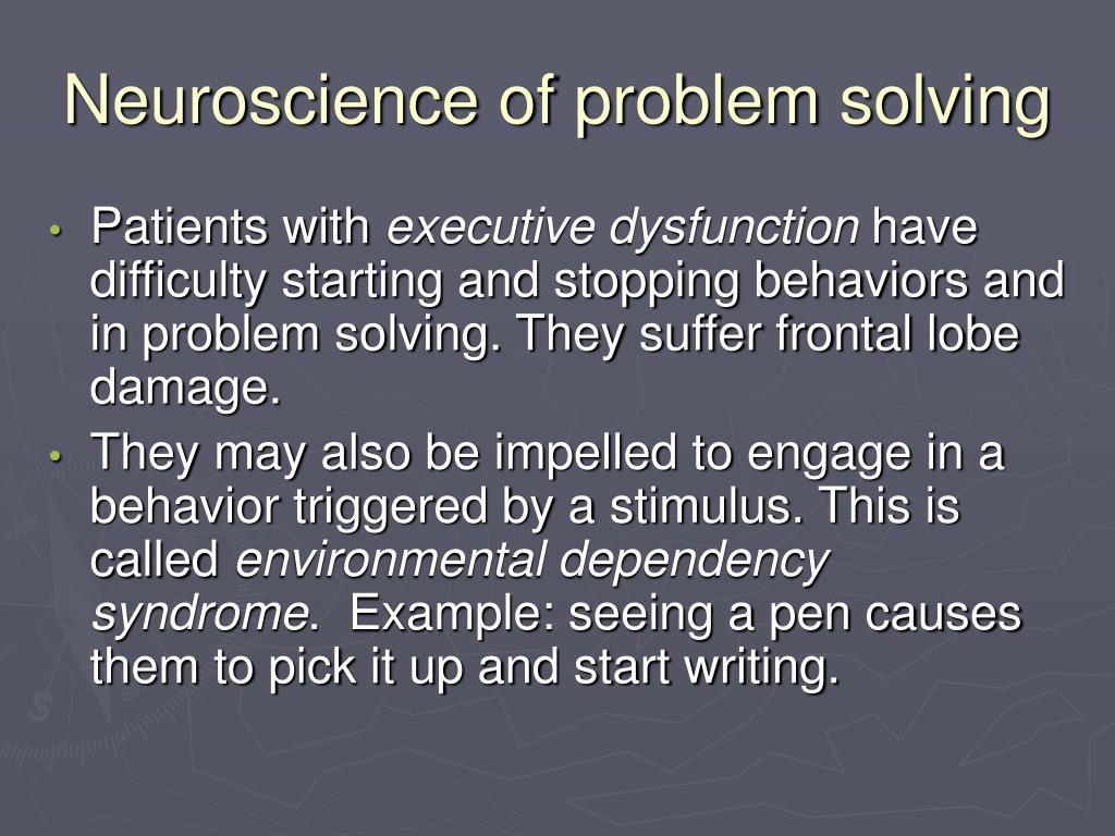 Neuroscience of problem solving