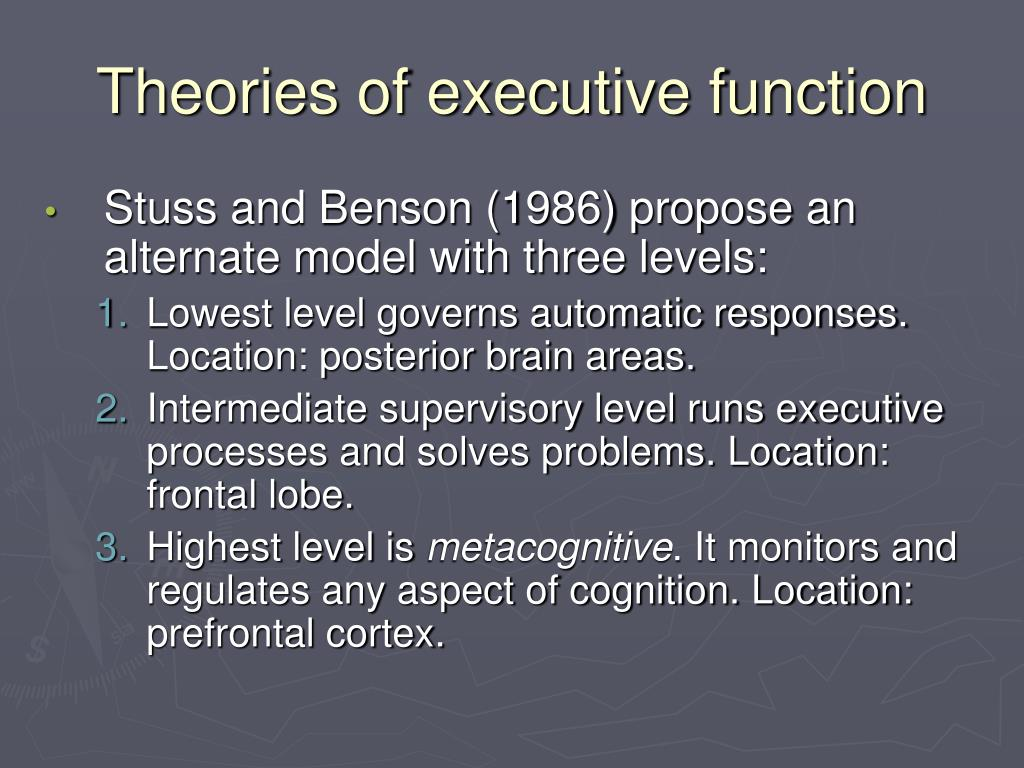 Theories of executive function