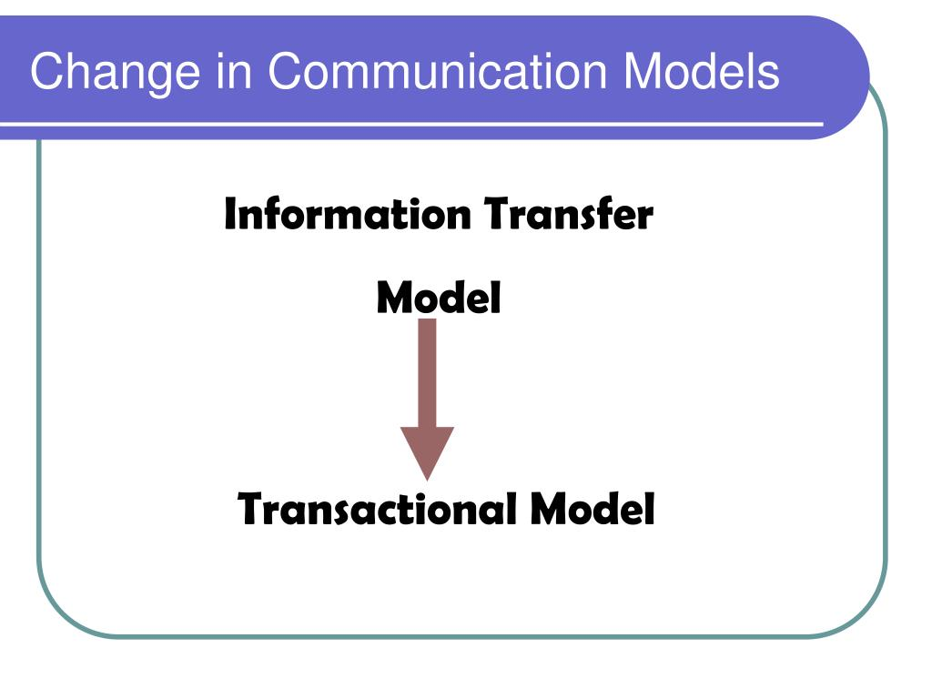 Change in Communication Models