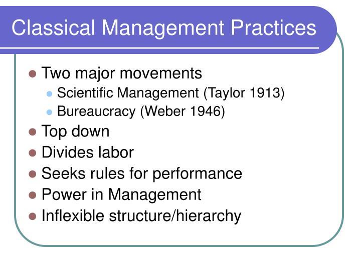 Classical management practices