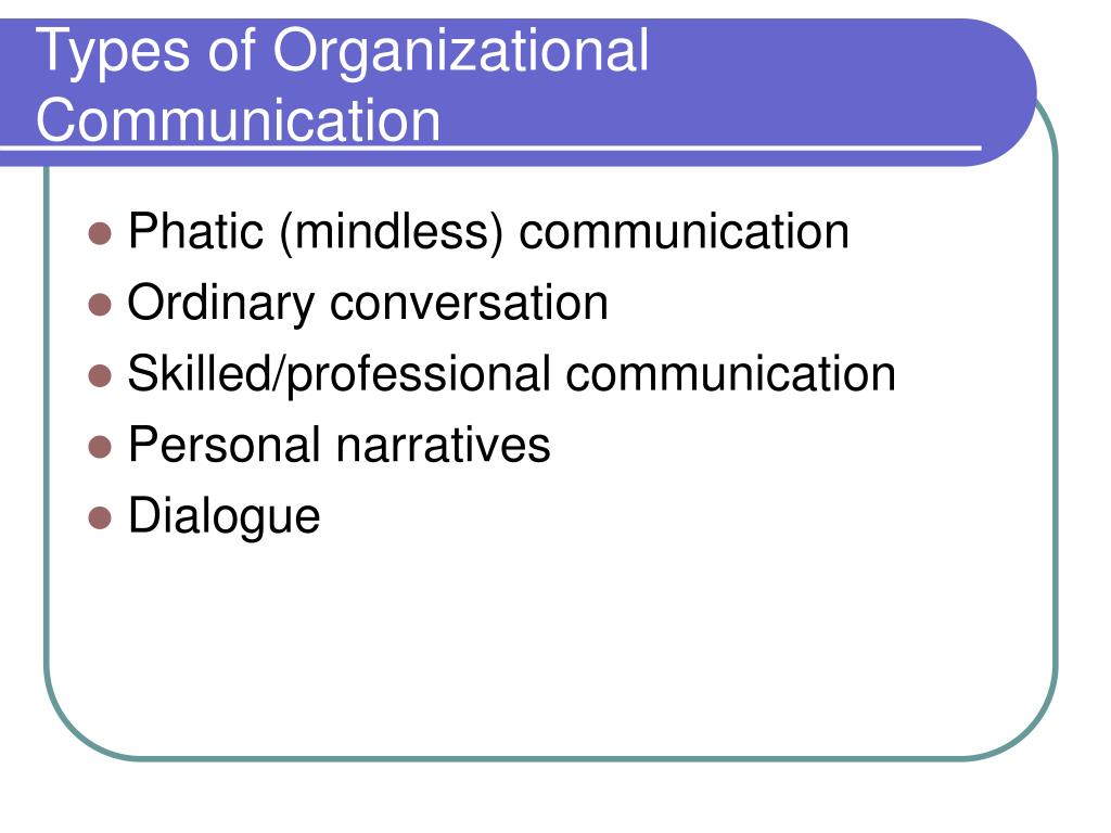 Types of Organizational Communication