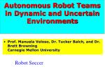 autonomous robot teams in dynamic and uncertain environments