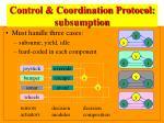 control coordination protocol subsumption
