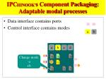 ipc hinook s component packaging adaptable modal processes