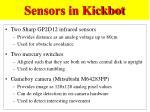 sensors in kickbot