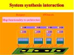 system synthesis interaction