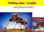 walking robot genghis