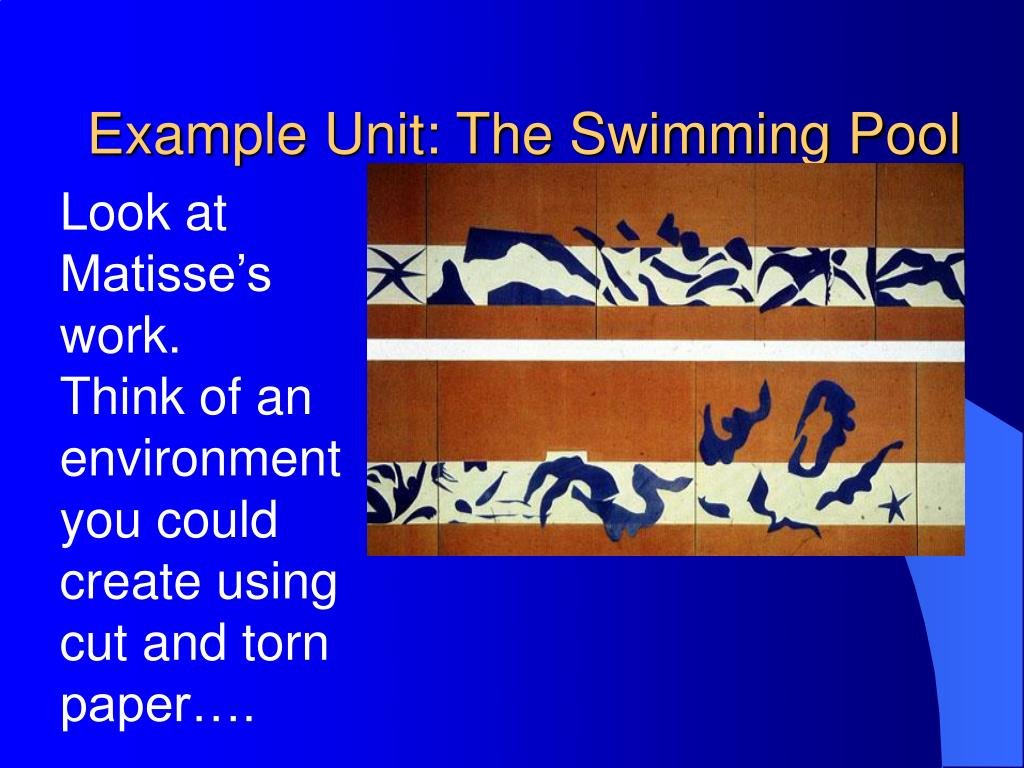 Example Unit: The Swimming Pool