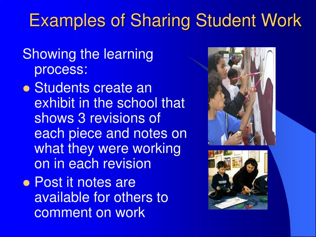 Examples of Sharing Student Work