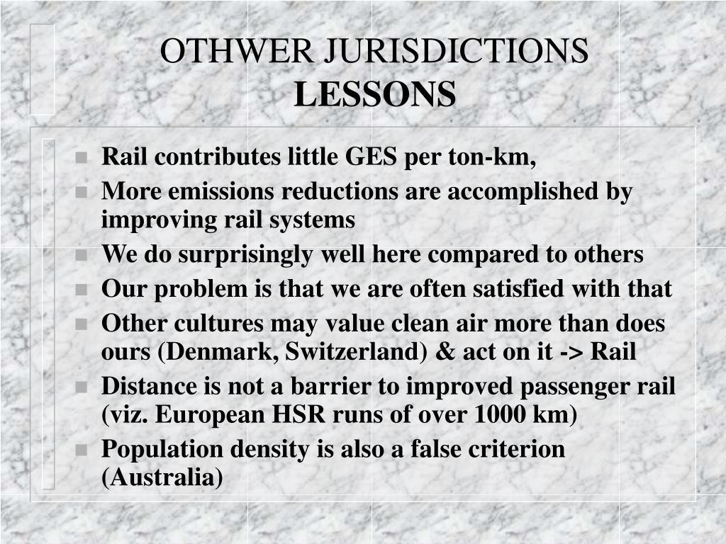 OTHWER JURISDICTIONS