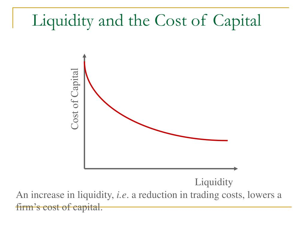 Liquidity and the Cost of Capital